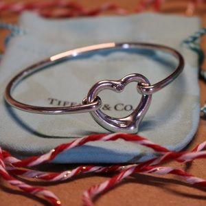Tiffany & Co Retired Diamond Open Heart Bracelet